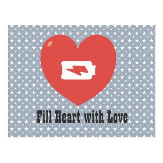 Heart Recharging Postcards