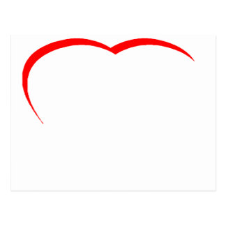 Heart Red Curve The MUSEUM Zazzle Gifts Postcard