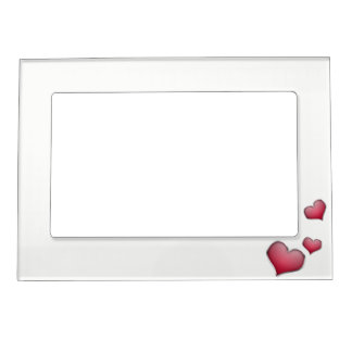heart red magnetic frame