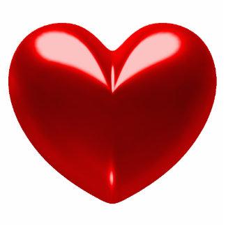 Heart - red photo statuette