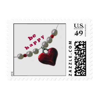 Heart Red Postage Stamp