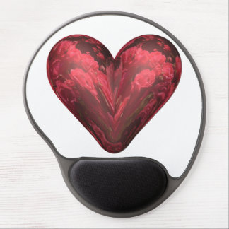 heart red roses gel mouse pad