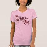 Heart & Red Swirls Maid of Honor Tshirt