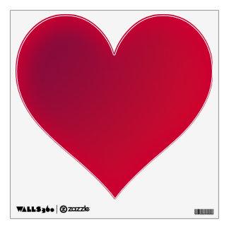 Heart red wall sticker