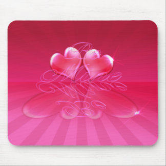 HEART REFLECTIONS & LIGHT RAYS by SHARON SHARPE Mouse Pad