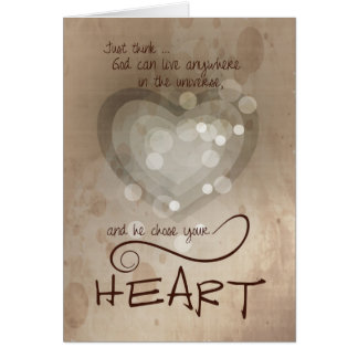 Heart Religious Encouragement Greeting Card