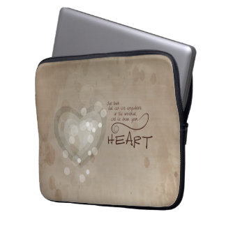 Heart Religious Encouragement, Grunge Computer Sleeve