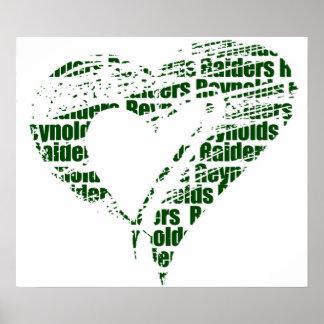 Heart Reynolds Raiders Poster