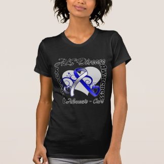 Heart Ribbon - ALS Disease Awareness T-Shirt