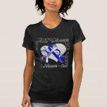 Heart Ribbon - ALS Disease Awareness Tshirt