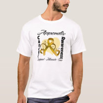 Heart Ribbon - Appendix Cancer Awareness T-Shirt