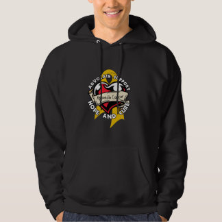 Heart Ribbon - Appendix Cancer Hooded Pullover