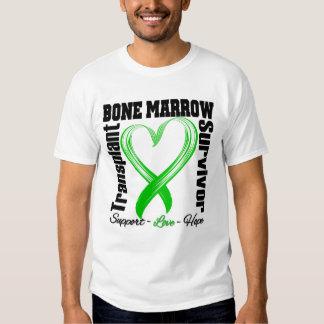Heart Ribbon - Bone Marrow Transplant Survivor T-Shirt