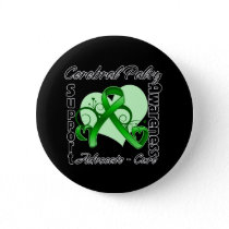 Heart Ribbon - Cerebral Palsy Awareness Button