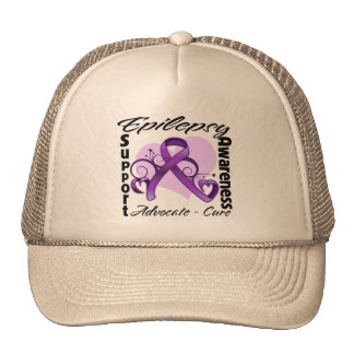 Heart Ribbon - Epilepsy Awareness Trucker Hat