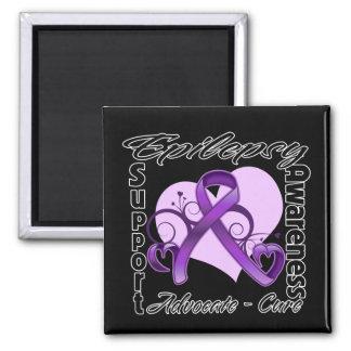 Heart Ribbon - Epilepsy Awareness Fridge Magnet