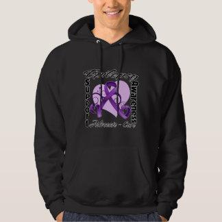 Heart Ribbon - Epilepsy Awareness Sweatshirt