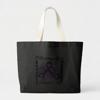 Heart Ribbon - Fibromyalgia Awareness Bag