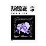 Heart Ribbon - General Cancer Awareness Stamps