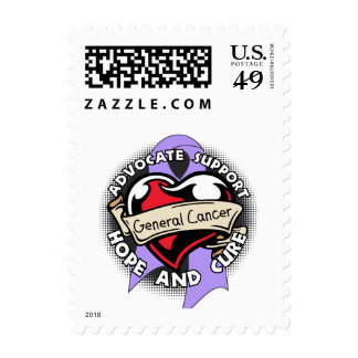 Heart Ribbon - General Cancer Stamp