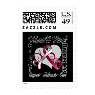 Heart Ribbon - Head and Neck Cancer Awareness Postage Stamp