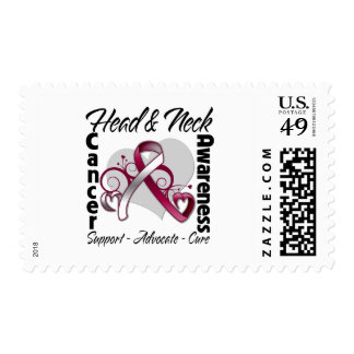 Heart Ribbon - Head and Neck Cancer Awareness Stamps