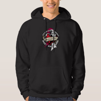 Heart Ribbon - Head and Neck Cancer Hoodie