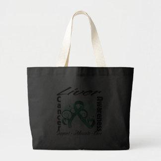 Heart Ribbon - Liver Cancer Awareness Bag