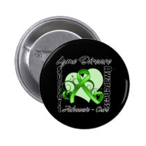 Heart Ribbon - Lyme Disease Awareness 2 Inch Round Button