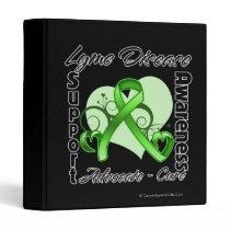 Heart Ribbon - Lyme Disease Awareness 3 Ring Binder
