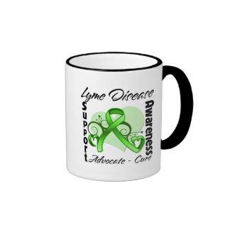 Heart Ribbon - Lyme Disease Awareness Coffee Mugs