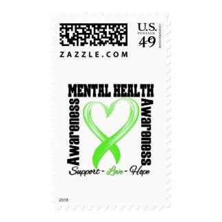 Heart Ribbon - Mental Health Awareness Stamps