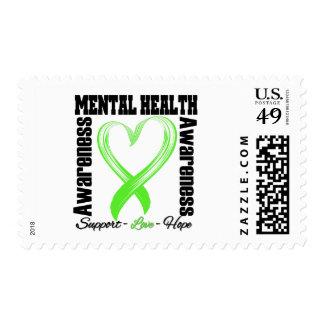 Heart Ribbon - Mental Health Awareness Postage