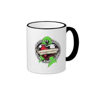 Heart Ribbon - Non-Hodgkins Lymphoma Ringer Coffee Mug