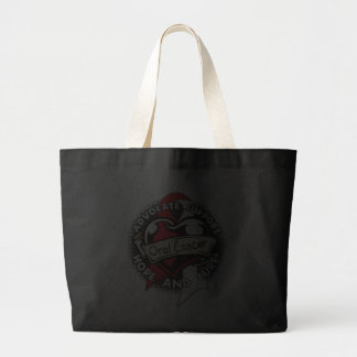 Heart Ribbon - Oral Cancer Canvas Bags