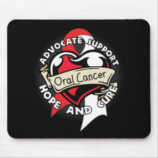 Heart Ribbon - Oral Cancer Mouse Pads