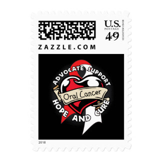 Heart Ribbon - Oral Cancer Postage Stamp