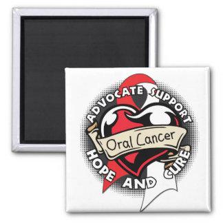 Heart Ribbon - Oral Cancer Refrigerator Magnet