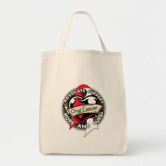 Heart Ribbon - Oral Cancer Tote Bag