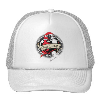 Heart Ribbon - Oral Cancer Trucker Hat