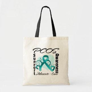 Heart Ribbon - PCOS Awareness Tote Bags