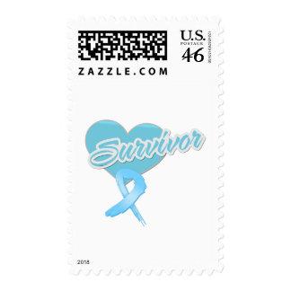 Heart Ribbon - Prostate Cancer Survivor Stamps