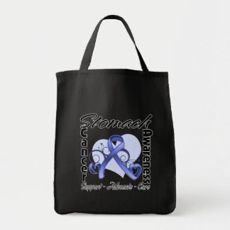 Heart Ribbon - Stomach Cancer Awareness Bags