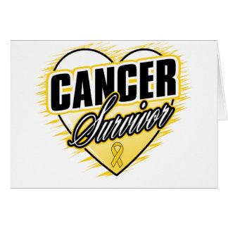 Heart Ribbon Survivor Appendix Cancer Card