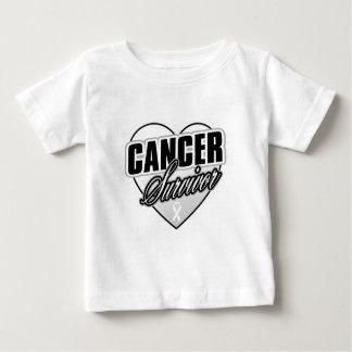 Heart Ribbon Survivor Bone Cancer T Shirt