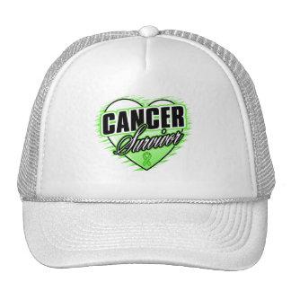 Heart Ribbon Survivor Non-Hodgkin's Lymphoma Mesh Hats