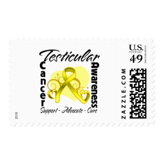 Heart Ribbon - Testicular Cancer Awareness Postage