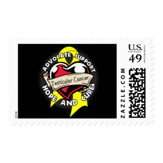 Heart Ribbon - Testicular Cancer Postage Stamps