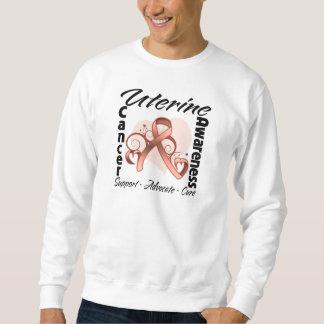Heart Ribbon - Uterine Cancer Awareness Sweatshirt