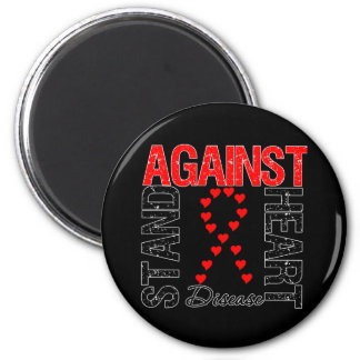 Heart Ribbon v5 - Stand Against Heart Disease 2 Inch Round Magnet